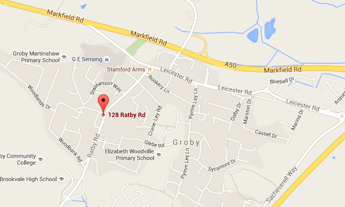 Map of Groby